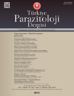 Özgün Araştırmalar / Original Investigations Derleme / Review