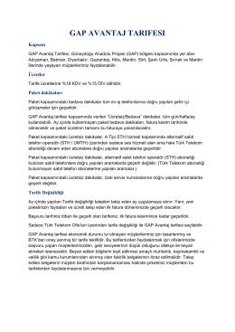 gap avantaj tarıfesı - Bireysel-Telekom Paketleri