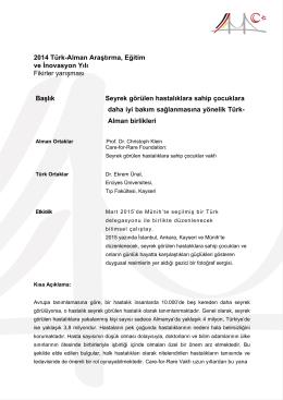 2014 Türk-Alman Araştırma, Eğitim ve İnovasyon Yılı Fikirler