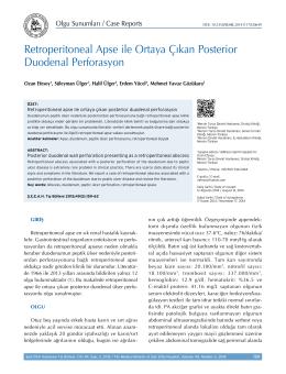 Retroperitoneal Apse ile Ortaya Çıkan Posterior Duodenal