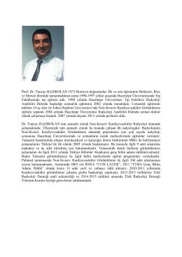 Dr. Tuncay HAZIROLAN - Türk Radyoloji Derneği