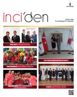 Eylül 2015 - İnci Holding