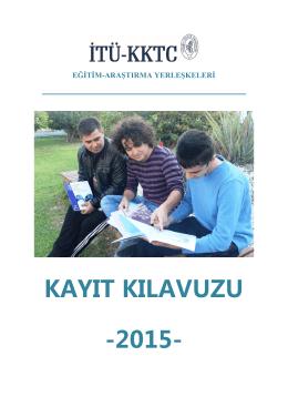 Kayıt Kılavuzu - İTÜ KKTC - İstanbul Teknik Üniversitesi