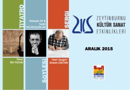 Aralık 2015 - Zeytinburnu Kültür Sanat