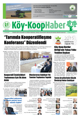 """""""Tarımda Kooperatifleşme Konferansı"""" Düzenlendi - Köy"""