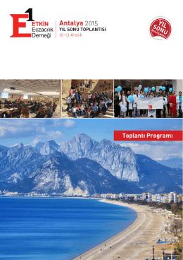 Antalya 2015 - Etkin Eczacılık Derneği