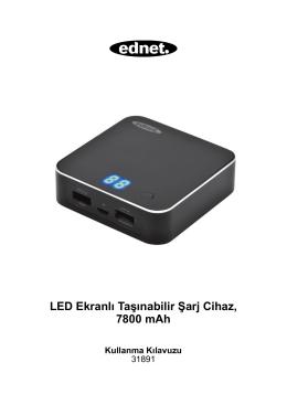 LED Ekranlı Taşınabilir Şarj Cihaz, 7800 mAh Kullanma Kılavuzu