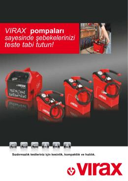 VIRAX pompaları sayesinde şebekelerinizi teste tabi tutun!