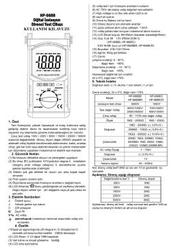 HP-6688B,C TR Kullanım Kılavuzu