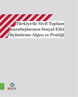 Türkiye`de Sivil Toplum Kuruluşlarının Sosyal