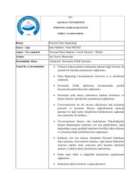 Şube Müdürü Fatih MENGİ - Personel