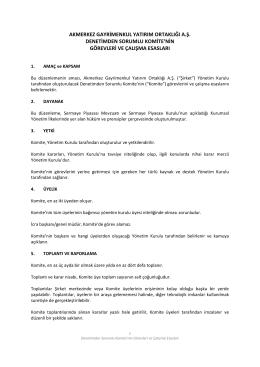 Denetimden Sorumlu Komite PDF - Akmerkez Gayrimenkul Yatırım