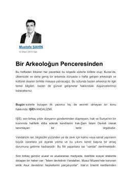 """""""Bir Arkeoloğun Penceresinden"""",Yeni Dönem Gazetesi"""