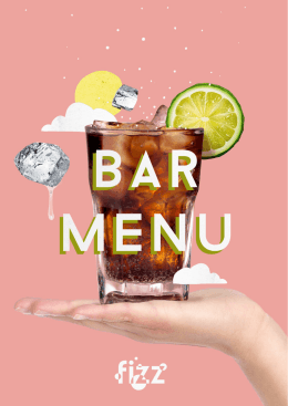 Bar Menu - Leka Hotels