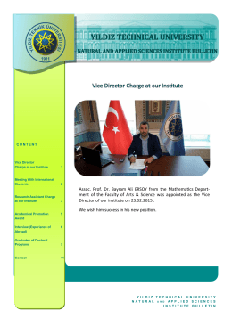 Assoc. Prof. Dr. Bayram Ali ERSOY from the Mathematics Depart