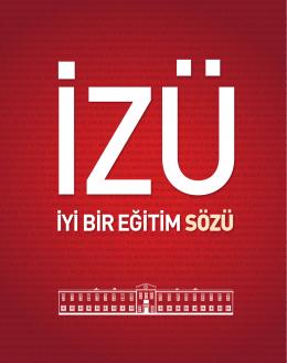 PDF Formatı - İstanbul Sabahattin Zaim Üniversitesi