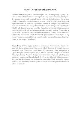 yargıya felsefeyle bakmak - Yapı Kredi Kültür Sanat Yayıncılık