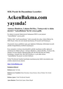 AckenBakma.com yayında! Antonyo Bandıras