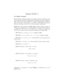 Lineer Cebir 1
