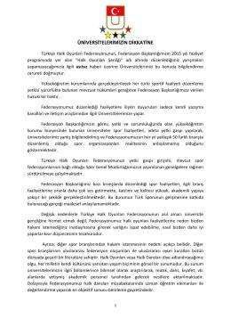 ÜNİVERSİTELERİMİZİN DİKKATİNE - Türkiye Üniversite Sporları