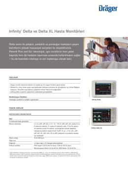 Infinity® Delta ve Delta XL Hasta Monitörleri