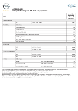 Opel OPC - Otomobil Tavsiyesi