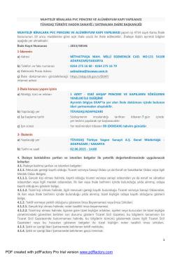20150496 - ilan - muhtelif binalara pvc pencere ve alüminyum kapı