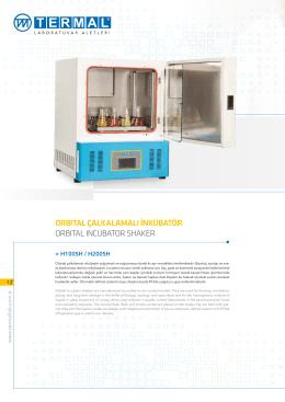 orbıtal çalkalamalı inkübatör orbıtal ıncubator shaker
