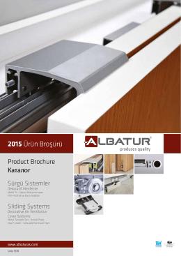 2015 Ürün Broşürü - Albatur Sürgü Sistemleri