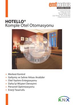 Komple Otel Otomasyonu HOTELLO®