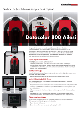 Datacolor 800 Ailesi - Datacolor Industrial