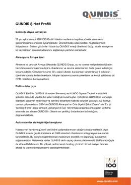 QUNDIS Şirket Profili