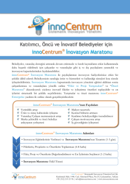 innoCentrum® İnovasyon Maratonu (Belediye)