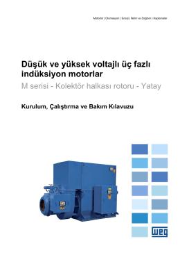 Düşük ve yüksek voltajlı üç fazlı indüksiyon motorlar