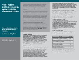 Türk-Alman Ekonomi Hukuku Ortak Yüksek Lisans Programı