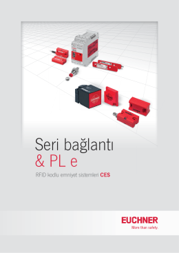 Seri bağlantı & PL e - EUCHNER GmbH + Co. KG
