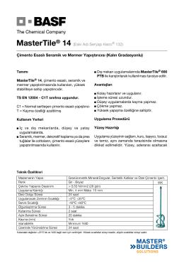MasterTile® 14 (Eski Adı Seryap Harcı® 132