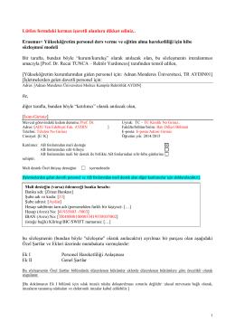 Ornek Hibe Sözleşme Formu - Adnan Menderes Üniversitesi