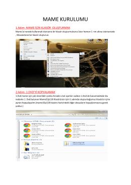 PDF dosyasına buradan ulaşabilirsiniz. - Arcade