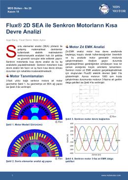 Flux® 2D SEA ile Senkron Motorların Kısa Devre Analizi