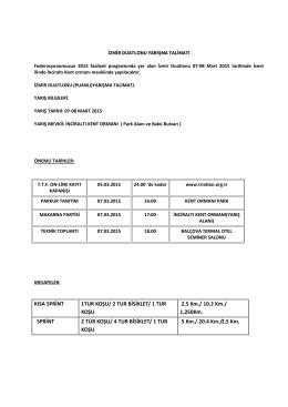 KISA SPRİNT 1TUR KOŞU/ 2 TUR BİSİKLET/ 1 TUR KOŞU 2,5 Km