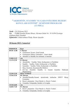 ICC Rezerv Konuları Eğitimi Programı