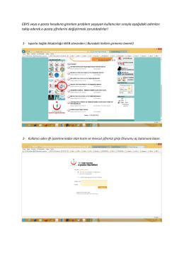 EBYS veya e-posta hesabına girerken problem yaşayan kullanıcılar