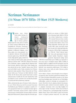 Neriman Nerimanov - Türk Gastroenteroloji Vakfı