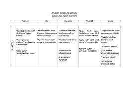 Atabek Koleji Anaokulu Ocak Ayı Aylık Takvimi