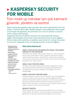 kaspersky securıty for mobıle
