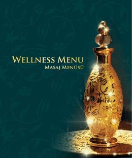 Wellness Menu