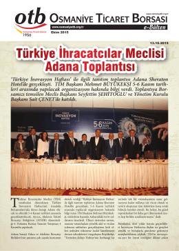 Türkiye İhracatcılar Meclisi Adana Toplantısı