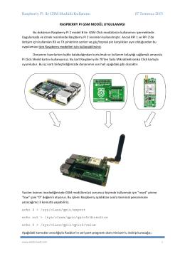 Raspberry Pi ile GSM Modülü Kullanımı