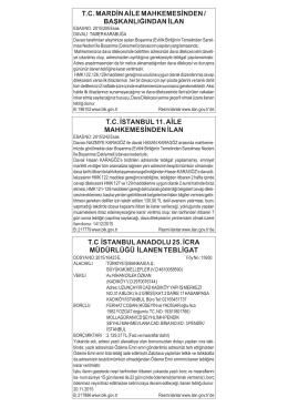 T.C ÚSTANBUL ANADOLU 25. ÚCRA MÜDÜRLÜßÜ